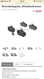Bremsbelegsatz, Scheibe VW - Bild 2