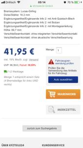 Bremsbelegsatz, Scheibe VW - Bild 4