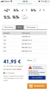 Bremsbelegsatz, Scheibe VW - Bild 5