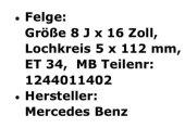 Gullideckel Felgen Mercedes - Bild 4
