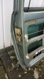 Tür Fahrertür VW Volkswagen Polo 86C GT Coupé jadegrün LN6V - Bild 3
